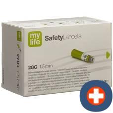 Mylife safetylancets safety lancets 28g 200 pcs