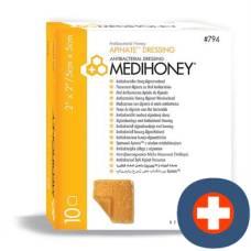 Medihoney antibacterial apinate dressing 795 10x10cm 5 pcs