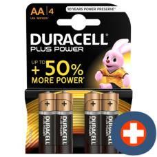 Duracell battery plus power mn1500 aa 1.5v 4 pcs