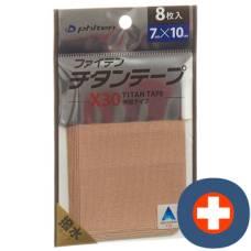 Phiten aqua titanium tape x30 7cmx10cm elastic eu 8 pcs
