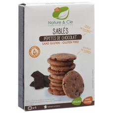 Nature & cie chocolate chip cookies with chocolate chips gluten free 125 g