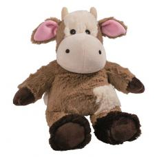 Beddy bear heat soft toy cow white and brown