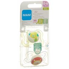 Mam air pacifier silicone 0-6 months 2 pcs