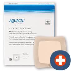 Aquacel foam adhesive foam dressing 17.5x17.5cm 10 pcs