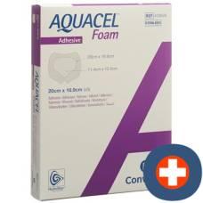 Aquacel foam adhesive foam dressing 20x16.9cm sacral 5 pcs