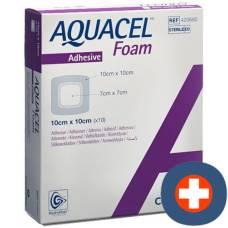 Aquacel foam adhesive foam dressing 10x10cm 10 pcs