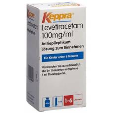 Keppra lös 100 mg / ml pipette 1 ml fl 150 ml