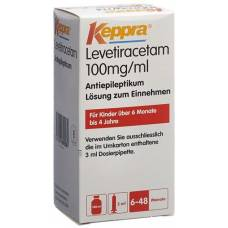 Keppra lös 100 mg / ml 3 ml pipette fl 150 ml
