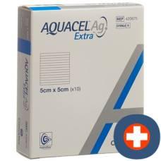 Aquacel ag hydrofiber dressing extra 5x5cm 10 pcs