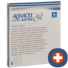 Aquacel ag hydrofiber dressing extra 15x15cm 5 pcs