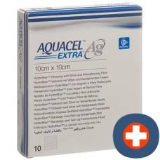 Aquacel ag hydrofiber dressing extra 10x10cm 10 pcs