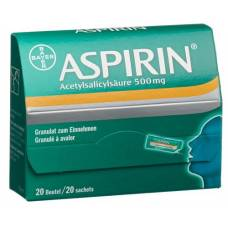Aspirin gran 500 mg btl 20 pcs
