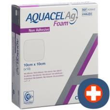 Aquacel ag foam foam dressing non-adhesive 10x10cm 10 pcs