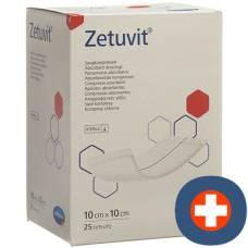 Zetuvit absorption Association 10x10cm sterile 25 pcs