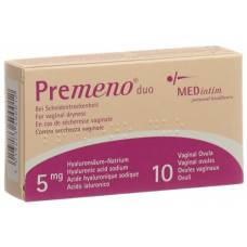 Premeno duo vag supp 5 mg 10 pcs