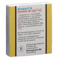 A kenacort solubile inj lös 40 mg / 1ml amp 5 pcs