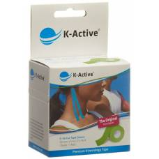 K-active kinesiology tape classic 5cmx5m green water repellent