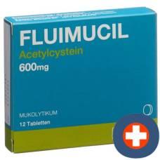 Fluimucil tbl 600 mg (d) 12 pcs