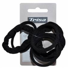 Trisa scrunchy black without metal assorted 10 pcs