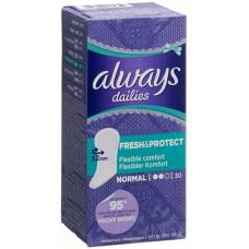 Always panty liner fresh & protect normal 30 pcs