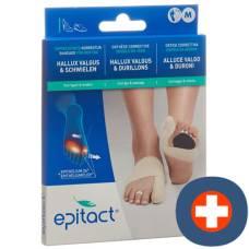 Epitact flexible double protective bandage correction hallux valgus day m 21.5-23cm left