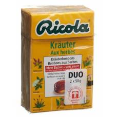 Ricola herbal sweets without sugar box 2 x 50 g
