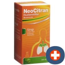 Neocitran cough suppressants syrup 15 mg / 10 ml 200 ml glasfl