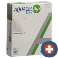 Aquacel ag + extra compress 5x5cm 10 pcs
