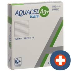 Aquacel ag + extra compress 10x10cm 10 pcs
