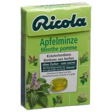 Ricola apple mint candy without sugar with stevia box 50 g