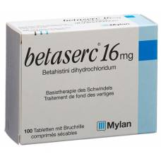Betaserc tablets 16 mg 100 pcs