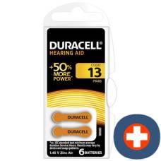 Duracell battery easytab 13 zinc air d6 1.4v 6 pcs
