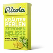 Ricola herbal candy beads zitronenm without sugar box 25 g