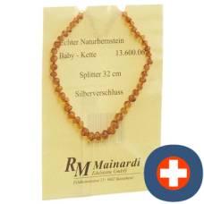 Mainardi natural amber 32cm split silberverschl