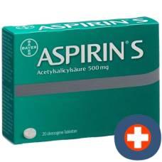 Aspirin 500 mg tbl s 20 pcs