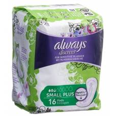 Always discreet incontinence small plus 16 pcs