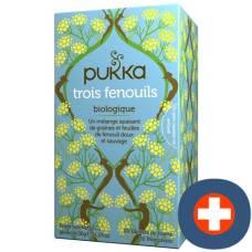Pukka trois fenouils thé bio btl 20 pcs