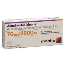 Alendron d3 mepha week 70/2800 tablets 12 pcs