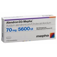 Alendron d3 mepha week 70/5600 tablets 12 pcs