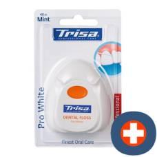 Trisa dental floss 40m pro white
