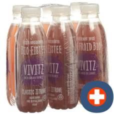 Vivitz organic iced tea lemon classic 6 x 0.5 lt