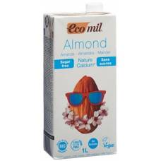 Ecomil almond drink with calcium lt without sugar 1