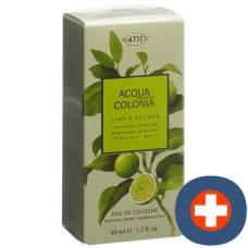 4711 acqua colonia lime & nutmeg cologne spray 50 ml
