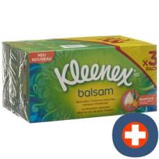 Kleenex balsam handkerchiefs box trio 3 x 60 pcs