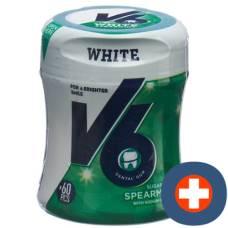 V6 white chewing gum spearmint ds 60 pcs