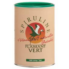 Spirulina flamant vert + acerola (vitamin c) tablets 500 mg 1000 copies