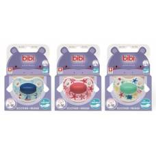 Bibi soother Happiness Densil 6-16 ring play with us assorted SV-A 6 pcs