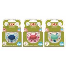 Bibi soother Happiness Densil 16+ ring play with us assorted SV-A 6 pcs