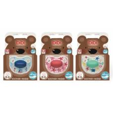 Bibi soother Happiness Densil 0-6 ring play with us assorted SV-A 6 pcs