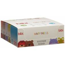 Bibi soother Happiness Densil 6-16 Glow in the Dark SV-A 6 pcs